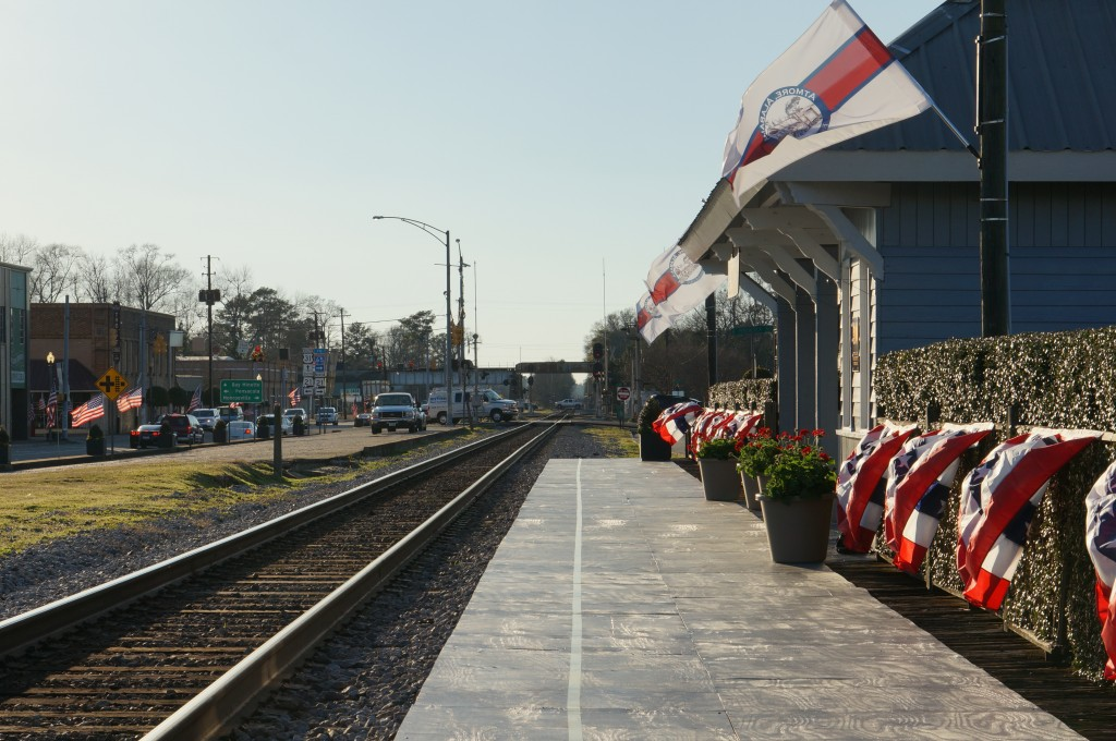 Amtrak Train Arrives in Atmore- March 2015